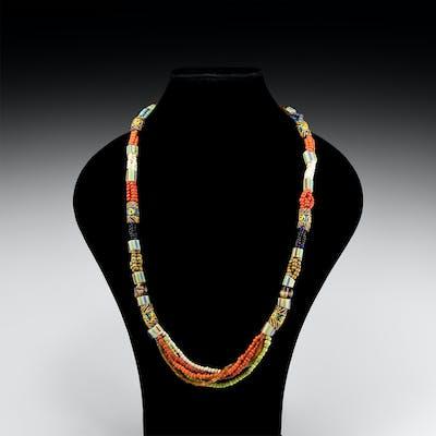 Designer Multi-Strand Bead Necklace