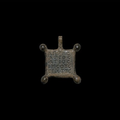 Medieval Inscribed Horse Harness Pendant