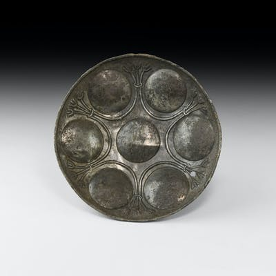 Western Asiatic Silver Bowl with Lotus Flowers