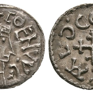 Anglo-Saxon Coins - Coenwulf - London / Ceolbeald - Crosslet Penny