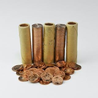English Milled Coins - Elizabeth II - 1971 - Royal Mint Rolls - Decimal