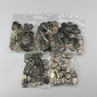 English Milled Coins - Elizabeth II - 1967 - Sixpences [500]