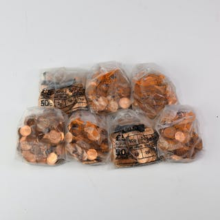 English Milled Coins - Elizabeth II - 1975-1976 - Bank Bags - Decimal