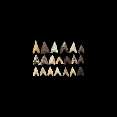 Stone Age Barbed Arrowhead Group