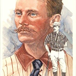 1980-02 Perez-Steele Hall of Fame Postcards #101 John Ward -- HOF Class of 1964