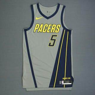 453890c86061 Edmond Sumner - Indiana Pacers - Game-Worn City Edition Jersey - Dressed –  Current sales – Barnebys.com