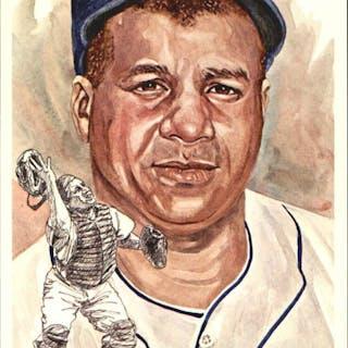 1980-02 Perez-Steele Hall of Fame Postcards #111 Roy Campanella --
