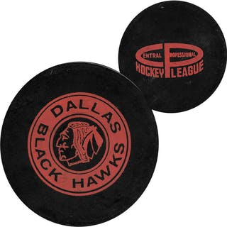 Classic Dallas Blackhawks (CHL) Official Game Puck - 1967-71