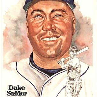 1980-02 Perez-Steele Hall of Fame Postcards #172 Duke Snider -- HOF