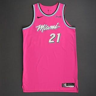 6661afce9ba Hassan Whiteside - Miami Heat - 2018-19 Season - Game-Worn Pink Earned