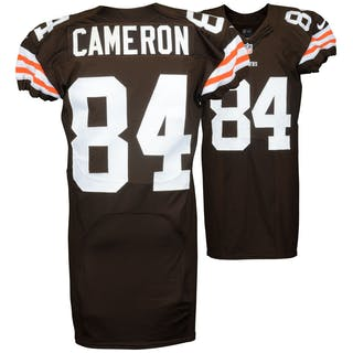 Jordan Cameron Cleveland Browns Game Used Brown #84 Jersey from the
