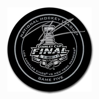 Tanner Pearson Autographed 2014 Stanley Cup Final Official Game Five Puck