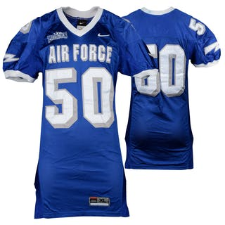 Air Force Falcons Game-Used #50 Blue Football Jersey from the 2002-06