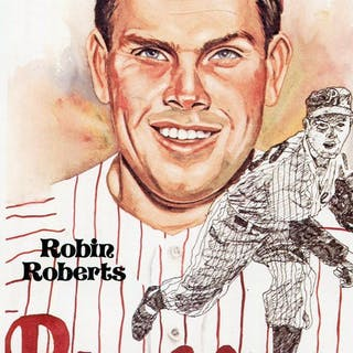 1980-02 Perez-Steele Hall of Fame Postcards #157 Robin Roberts --