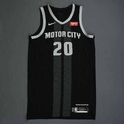 finest selection 0b013 512c8 Wayne Ellington - Detroit Pistons - Game-Worn City Edition ...