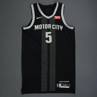 f0ebddd71f2 Short time left! Luke Kennard - Detroit Pistons - Game-Worn City Edition  Jersey - 2019 Playoffs