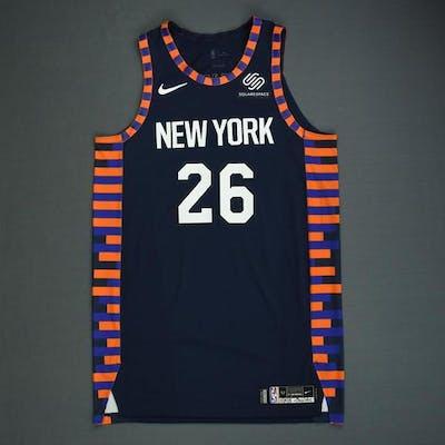 purchase cheap 685f1 fa7b2 Mitchell Robinson - New York Knicks - Game-Worn City Edition ...