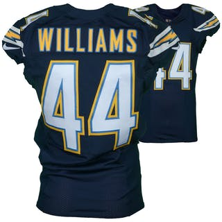 Andre Williams San Diego Chargers Game-Used #44 Blue Jersey vs. Kansas