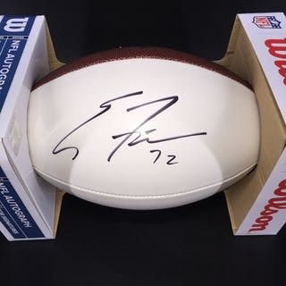 NFL - Chiefs Eric Fisher signed panel ball