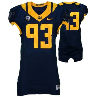 California Bears Game-Used #93 Navy Jersey Used During The 2015 Season