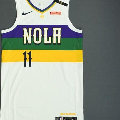 d0bd97938cc88 Jrue Holiday - New Orleans Pelicans - Game-Worn City Edition Jersey ...