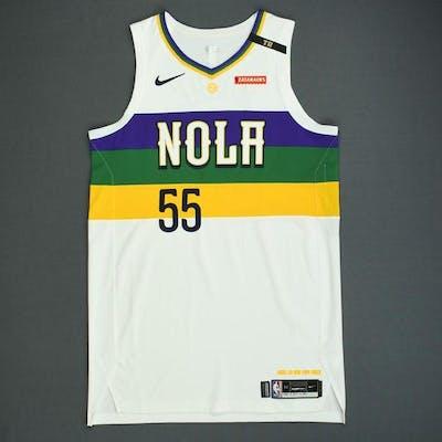 official photos 061e6 a3031 E'Twaun Moore - New Orleans Pelicans - Game-Worn City ...
