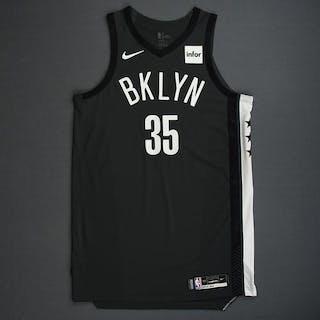 Kenneth Faried - Brooklyn Nets - 2018-19 Season - Game-Worn Gray Statement