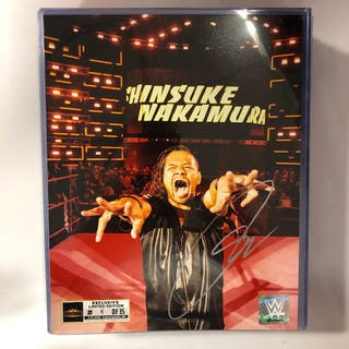 Shinsuke Nakamura SIGNED WrestleMania 35 Superstore Exclusive Photo
