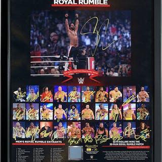2019 Men's Royal Rumble Entrant Autographed Ring Canvas Plaque (Random Number)