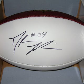 NFL - GIANTS DALVIN TOMLINSON SIGNED PANEL BALL