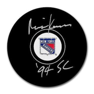 Mike Keane Autographed New York Rangers Puck w/94 SC Inscription