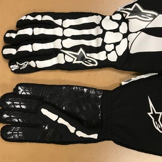 2019 Race-Worn, Aric Almirola Autographed Driven to Give Gloves in
