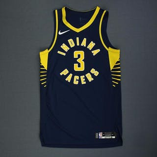online store f3fd9 65193 Aaron Holiday - Indiana Pacers - Rookie-Debut - Game-Worn ...