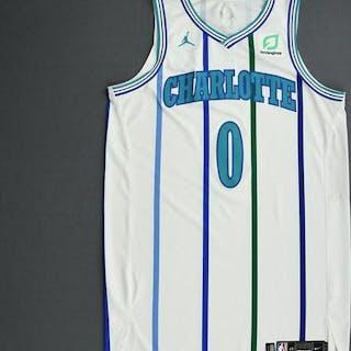 Miles Bridges - Charlotte Hornets - 2018-19 Season - Game-Worn White