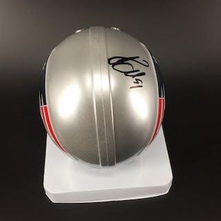 Patriots - Jamie Collins Signed Mini Helmet