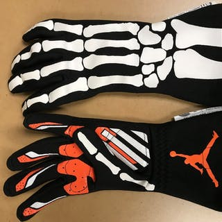2019 Race-Worn, Denny Hamlin Autographed Driven to Give Gloves in