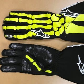 2019 Race-Worn, Jimmie Johnson Autographed Driven to Give Gloves in