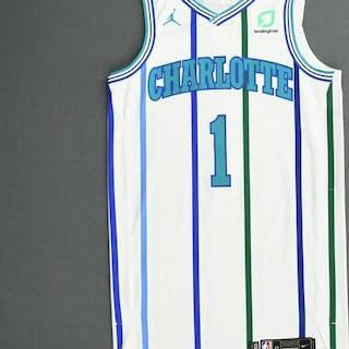 Malik Monk - Charlotte Hornets - 2018-19 Season - Game-Worn White