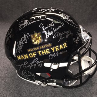 PCF - Walter Payton Man of the Year multi signed revolution helmet