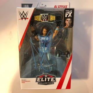 AJ Styles SIGNED Elite Series Series 66 Action Figure