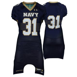 Navy Midshipmen Game-Used #31 Navy Jersey from the 2014-16 Football