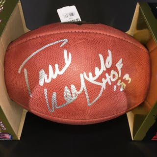 HOF - Dolphins Paul Warfield Signed Authentic Football