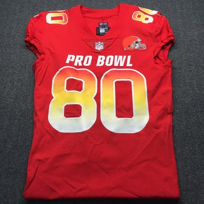 cheap for discount ed312 df727 NFL - Browns Jarvis Landry Game Issued 2019 Pro Bowl Jersey ...