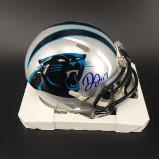 Panthers - Devin Funchess Signed Mini Helmet