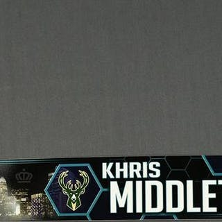 Khris Middleton - Milwaukee Bucks - 2019 MTN DEW 3-Point Contest Nameplate