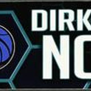 Dirk Nowitzki - Dallas Mavericks - 2019 MTN DEW 3-Point Contest Nameplate
