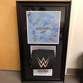 Royal Rumble 2018 SIGNED Used Ring Canvas & Used Turnbuckle Commemorative