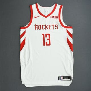 James Harden - Houston Rockets - 2019 NBA Playoffs - Game-Worn White