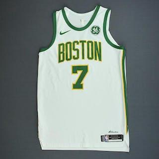 newest collection bec62 35edf Jaylen Brown - Boston Celtics - Game-Worn City Edition ...