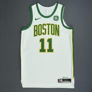 3bf76dd3ab21 Kyrie Irving - Boston Celtics - Game-Worn City Edition Jersey -  Double-Double – Current sales – Barnebys.com